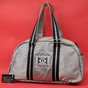Chanel Large Silver Sports Logo Boston Duffle
